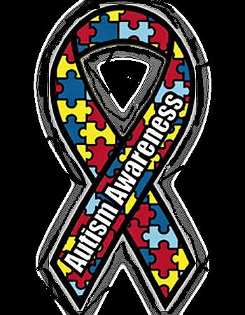 Autism Awareness Puzzle Ribbon