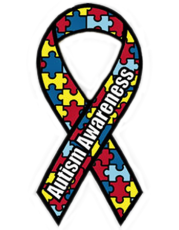 Autism Awareness Puzzle Ribbon